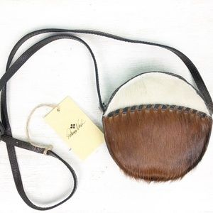 PATRICIA NASH round leather crossbody BAG cowhide